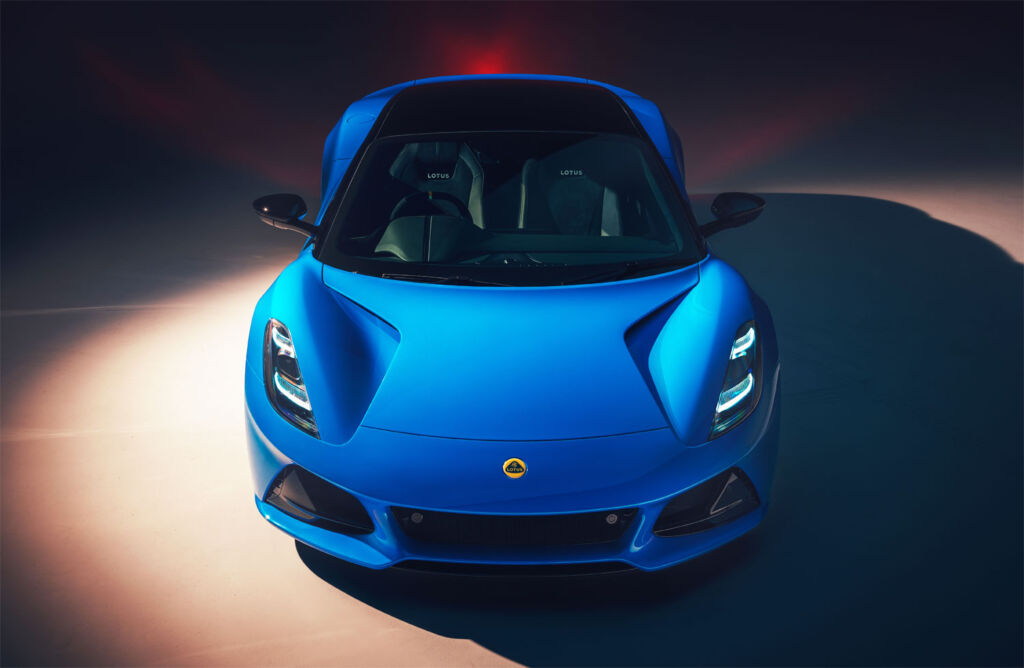A render of the Lotus Emira from the front