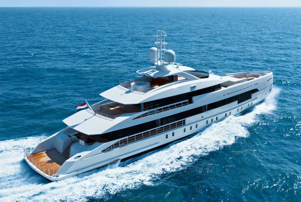 An aerial view of the Heesen MY ELA Superyacht