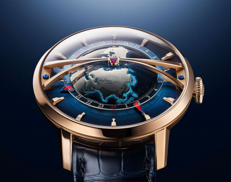 The Arnold & Son Globetrotter Gold Adds Extra Beauty to the World