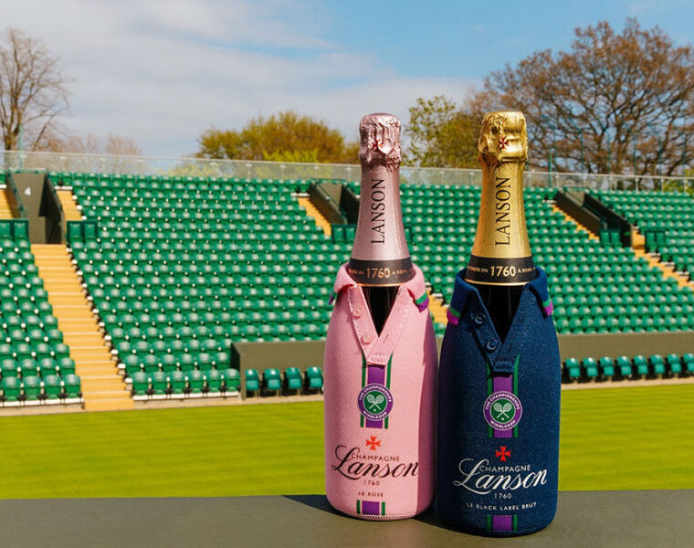 Champagne Lanson Bottle Jackets Bring the Fun of Wimbledon into the Home