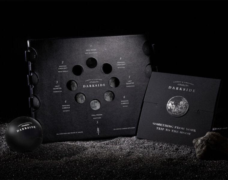 The Moon menu, hologram and Magic 8 Ball