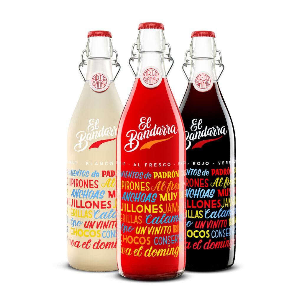 Three varieties of El Bandarra Vermouth's