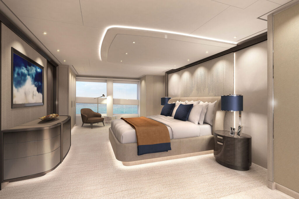 Inside one of the luxurious bedroom suites