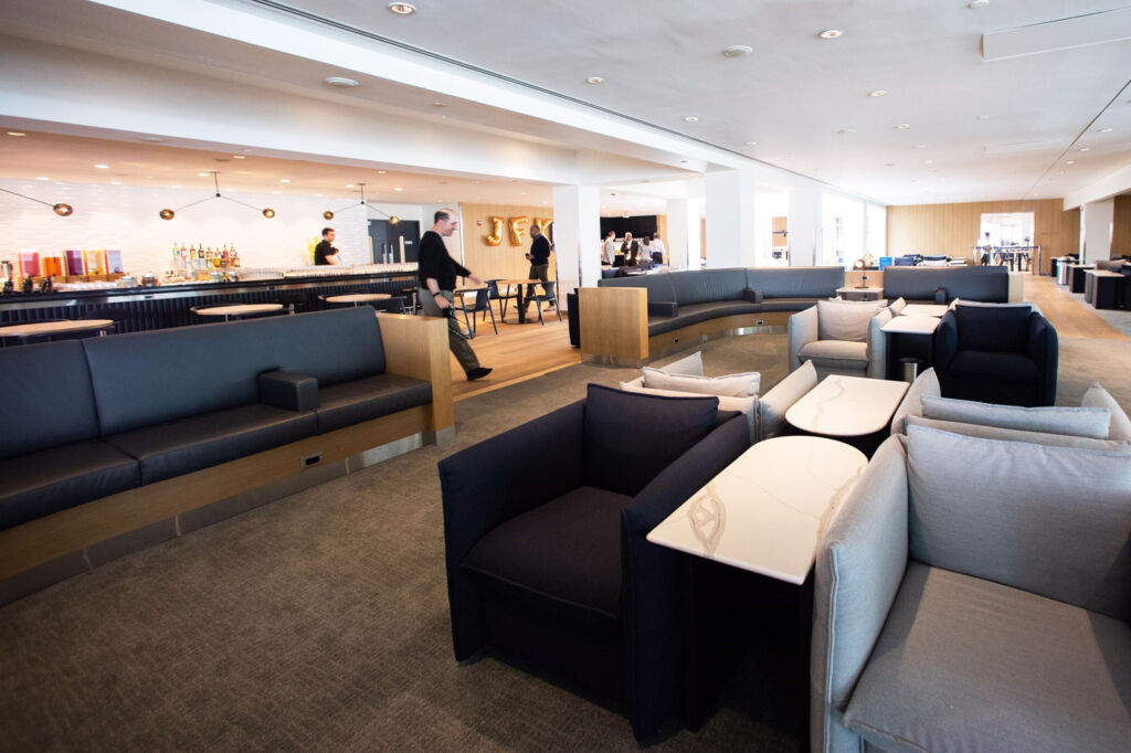 Inside the Galleries Lounge at JFK airport