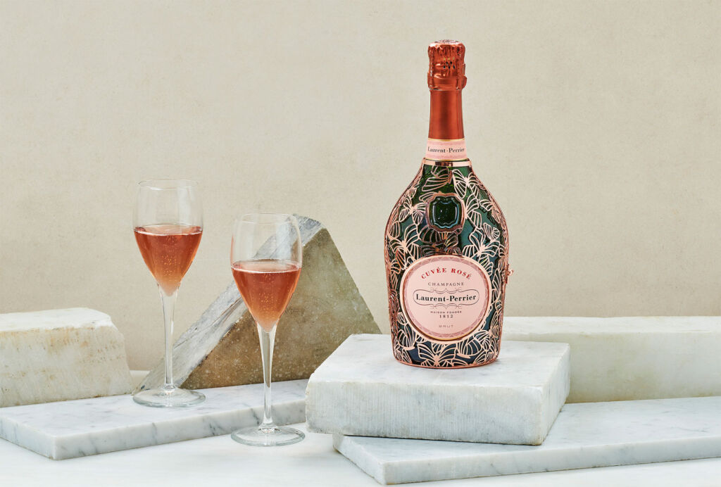 The Beautiful Champagne Laurent-Perrier Cuvée Rosé Butterfly Robe