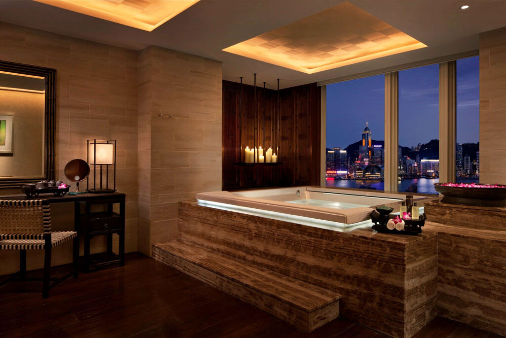 One of the best places in the world to take a bathroom selfie is the Peninsula Hong Kong