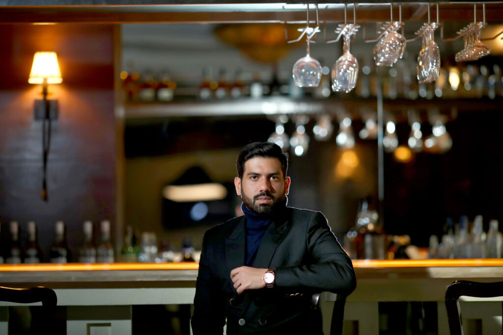 Partap Choudhary inside one of his restaurants