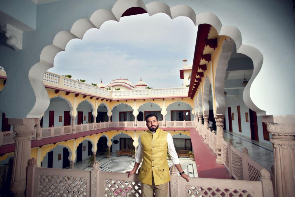 Partap Choudhary enjoying some beautiful Indian architecture