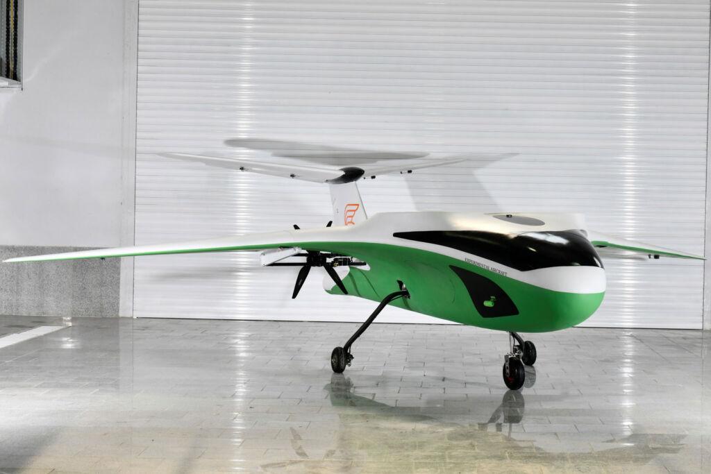 The Prototype eVTOL in its hangar