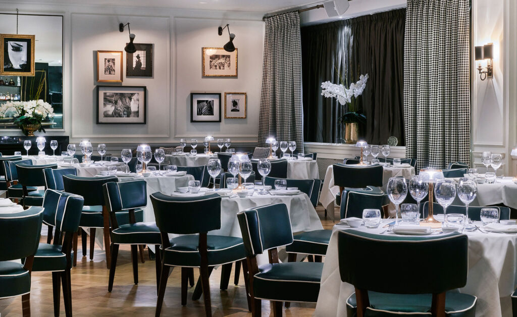 An image showing the inside of the main dining room at the restaurant