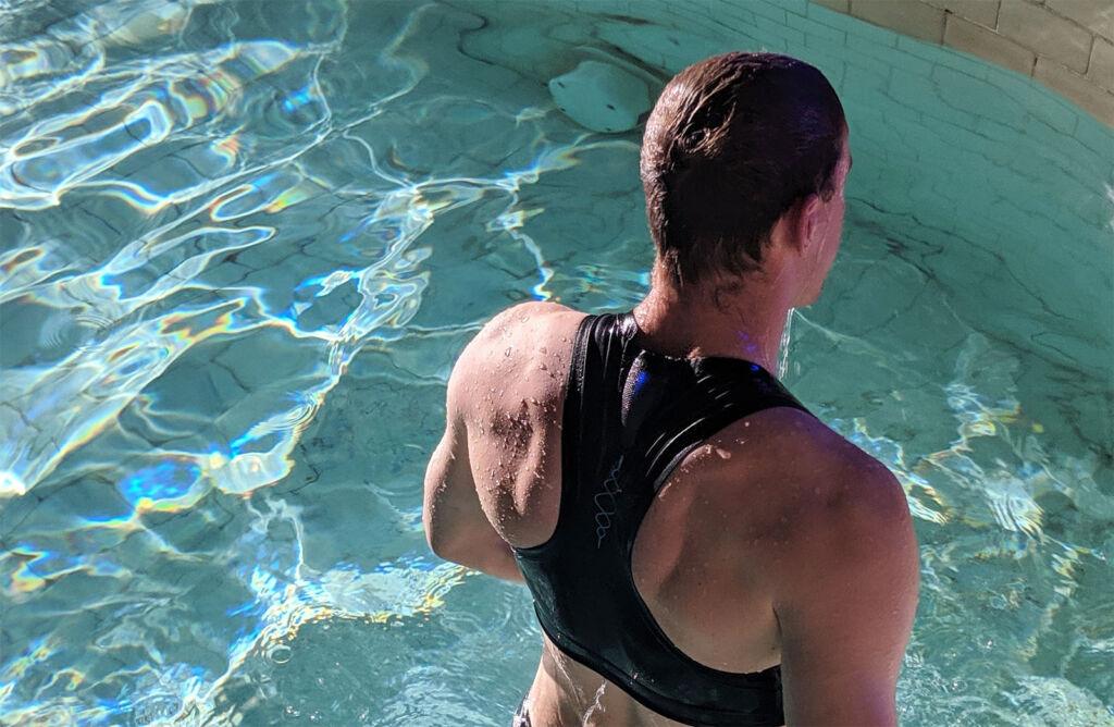 Swimmer wearing the INCAS NOVA