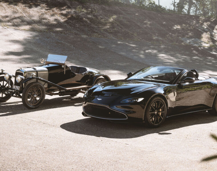 The A3 Vantage Roadster next to the original A3