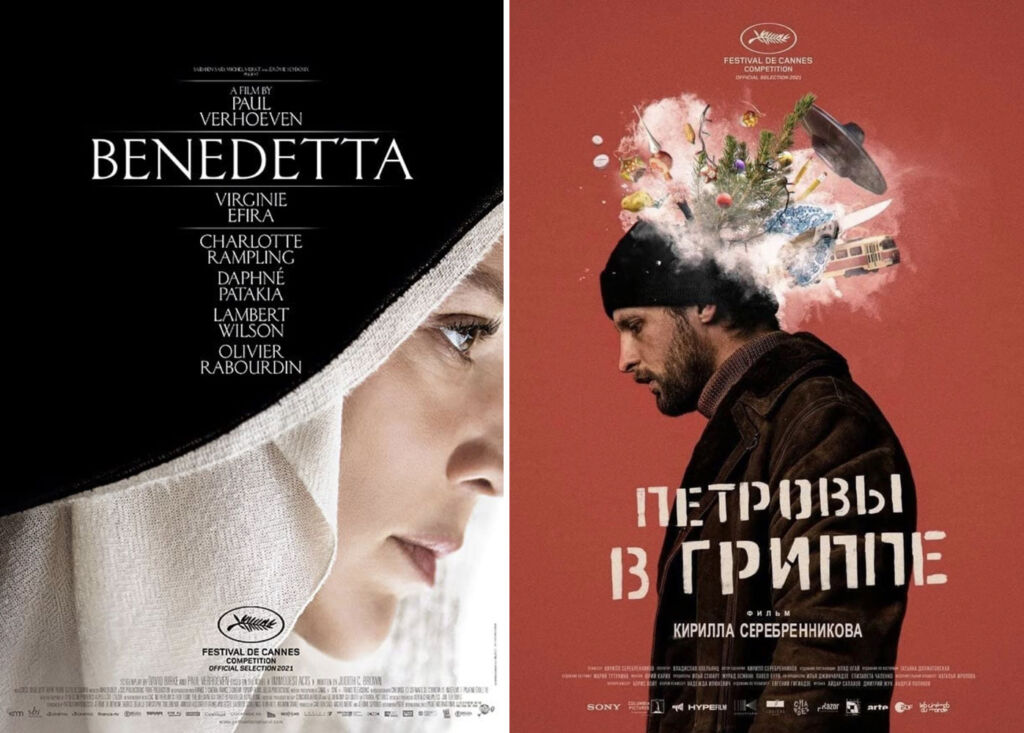 The film posters for Benedetta and Petrovs Flu