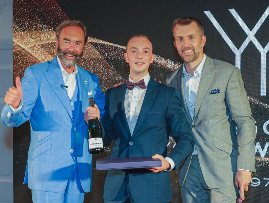 UK Young Waiter of the Year 2020 Florian David of The Waterside Inn