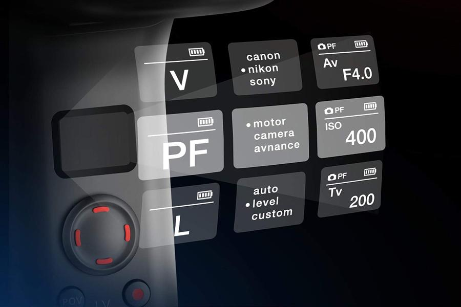An image showing the numerous settings on the gimbal without the use of an App