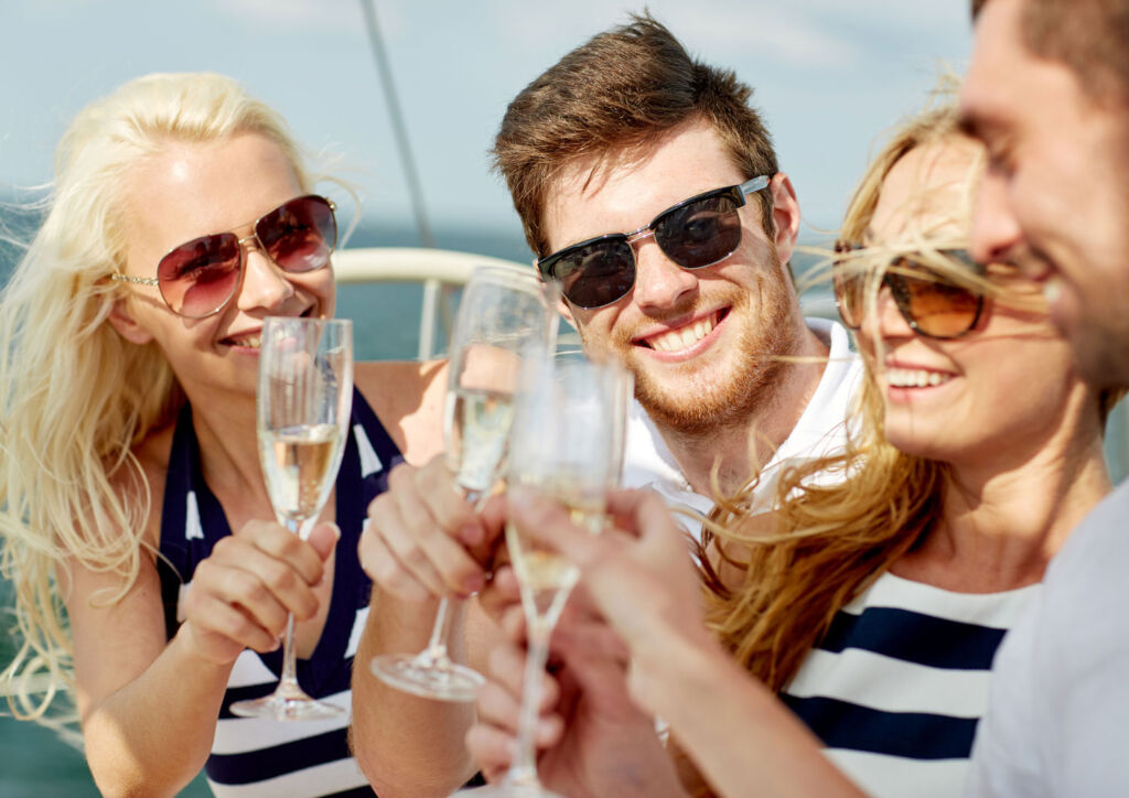 Young people enjoying Summer 2021 on the Porto Cervo Waterfront