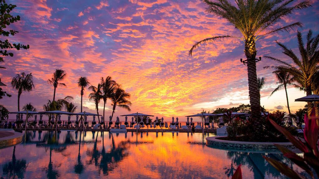 A beautiful sunset on the Cayman Islands