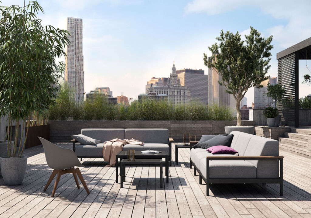 Creating a tranquil space outdoors is an ideal way to recharge at home