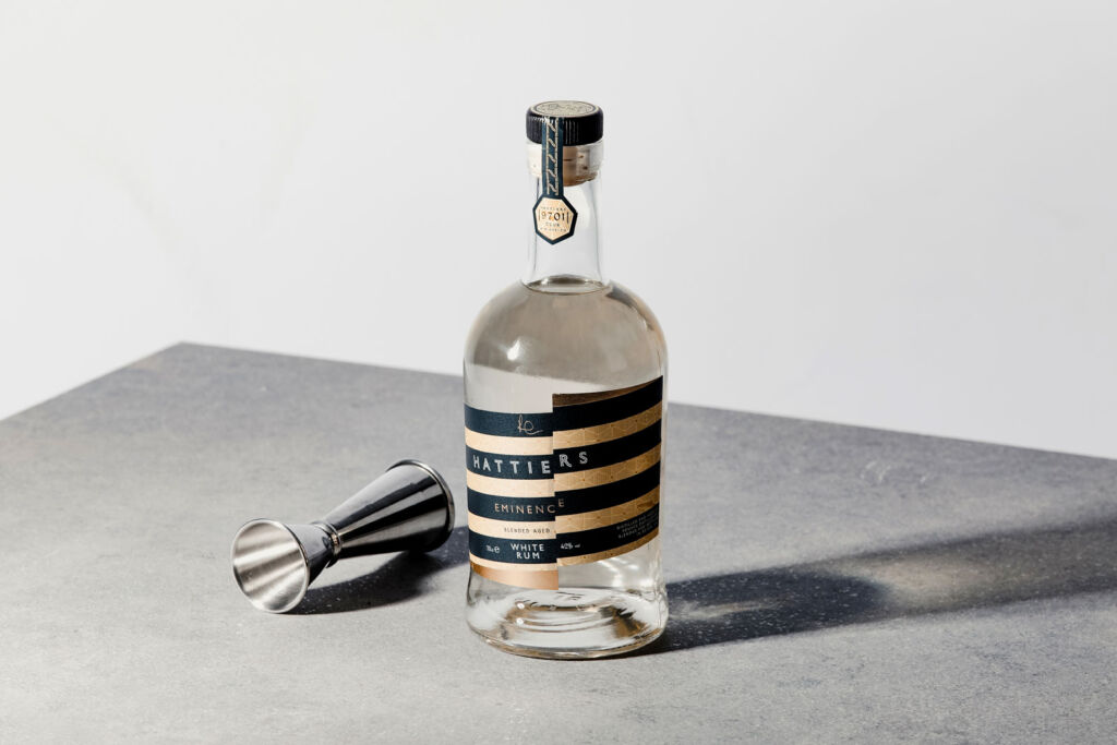 A bottle of the rum ready to be mixed into a cocktail