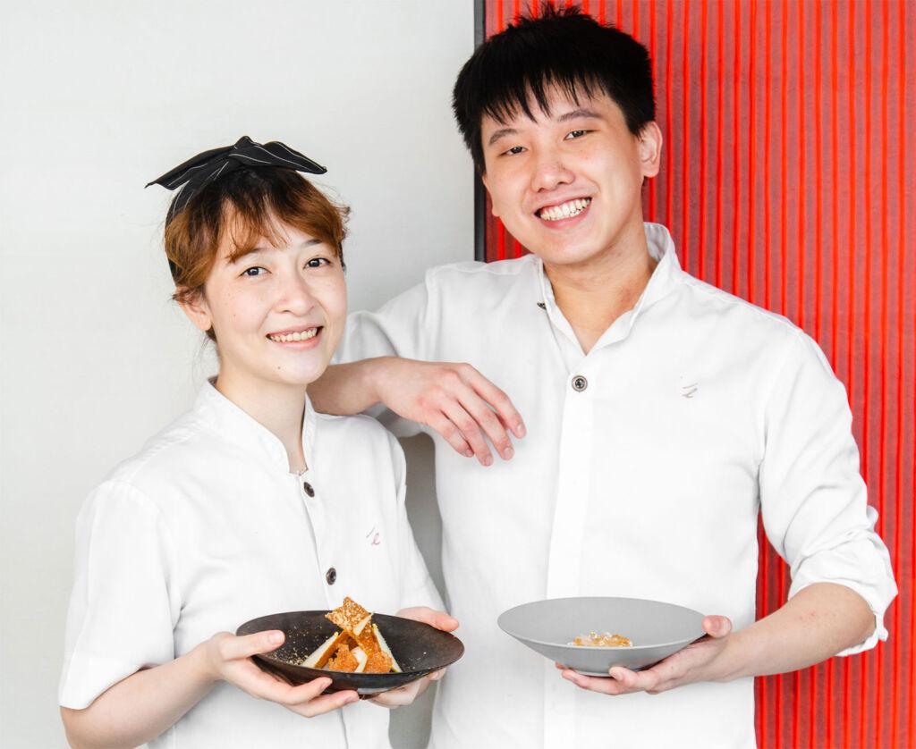 Chef Cyrus Yan and Chef Tia Cheung