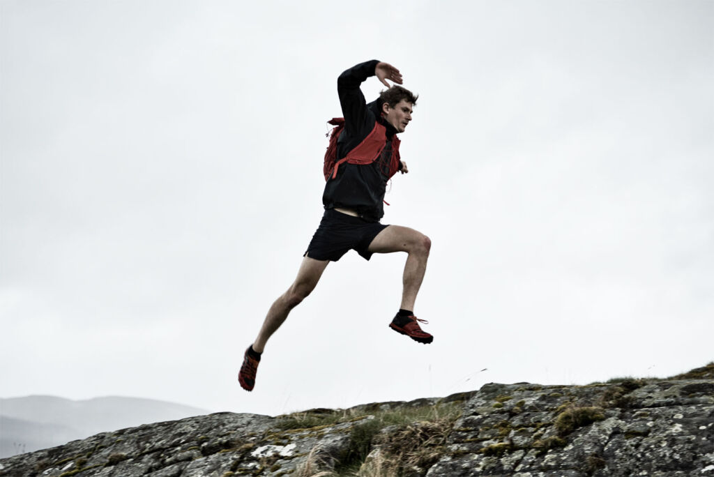 A competitor pushing himself on one of the gruelling challenges