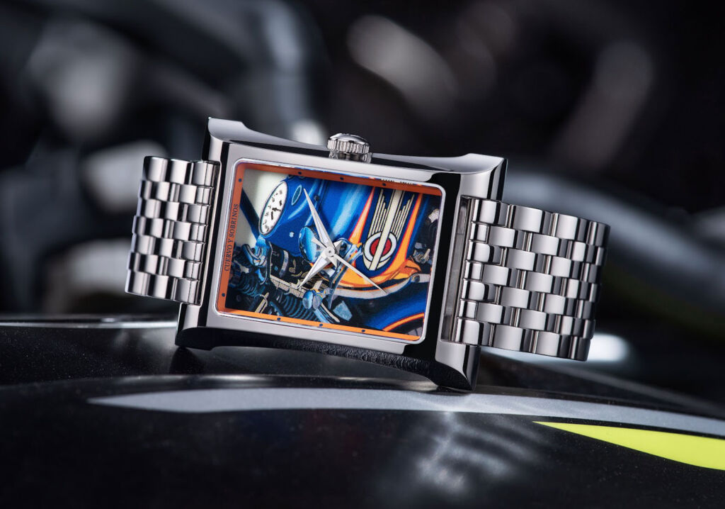A version of the limited edition watch with a stainless steel bracelet