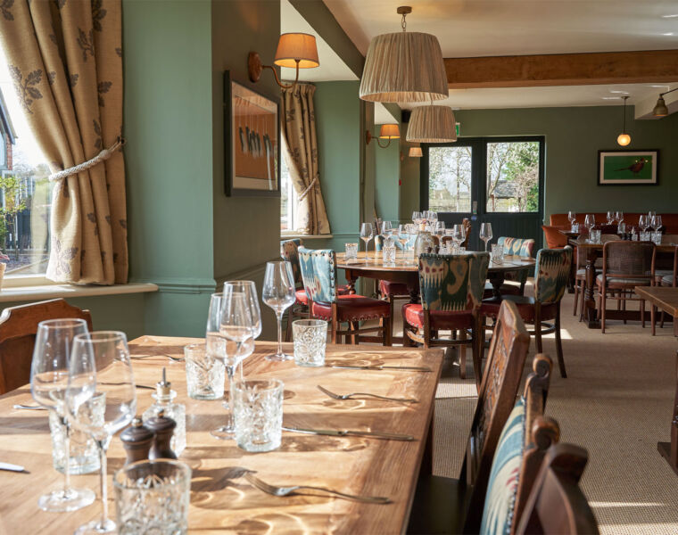Stylish Rooms of Charming Country Pub The Beckford Inn, Tewksbury