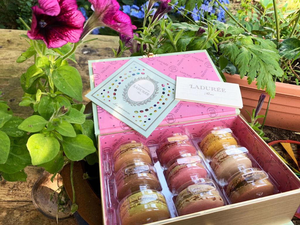 Maison Ladurée & Olympia Le-Tan macaron presentation box