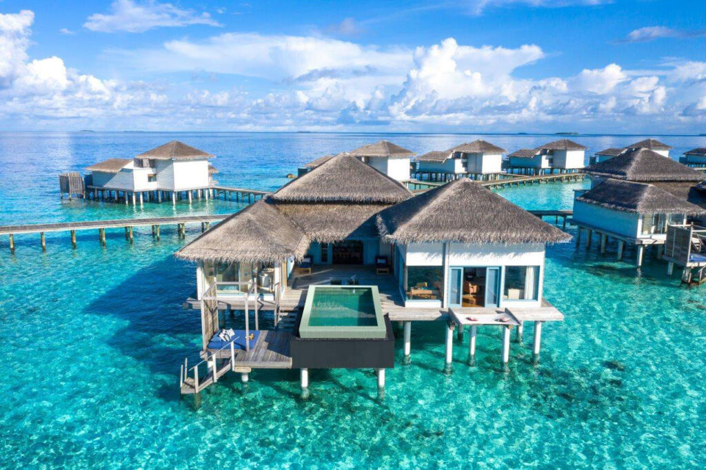 A collection of overwater villas designed by the group
