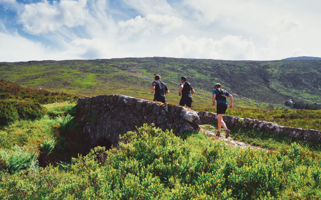 Runners out in the spectacular Scottish countryside