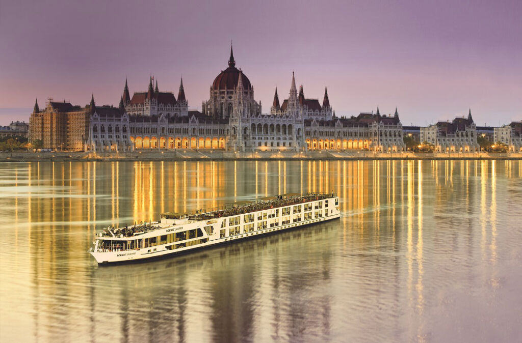 A river cruise in Budapest
