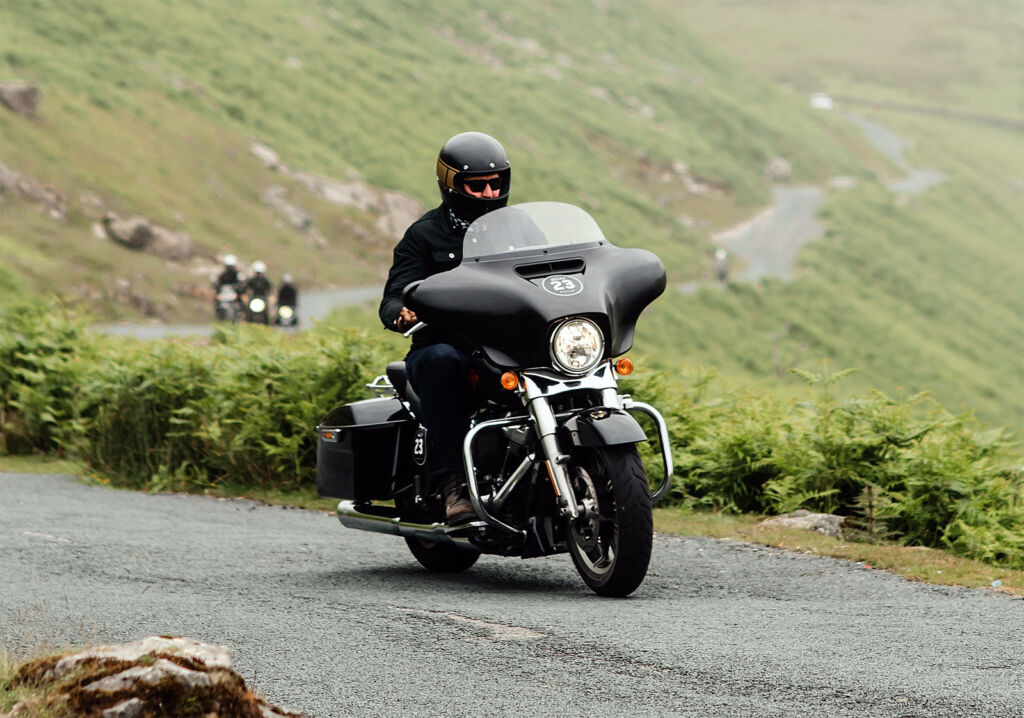 Riding through the hills in the Lake District