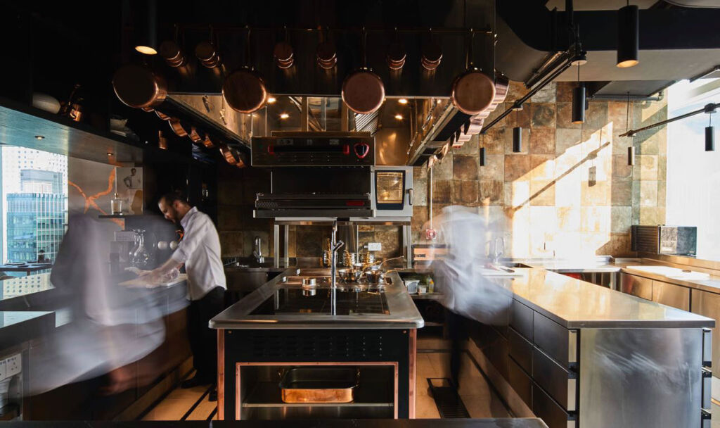 Inside the busy kitchen at ÉCRITURE