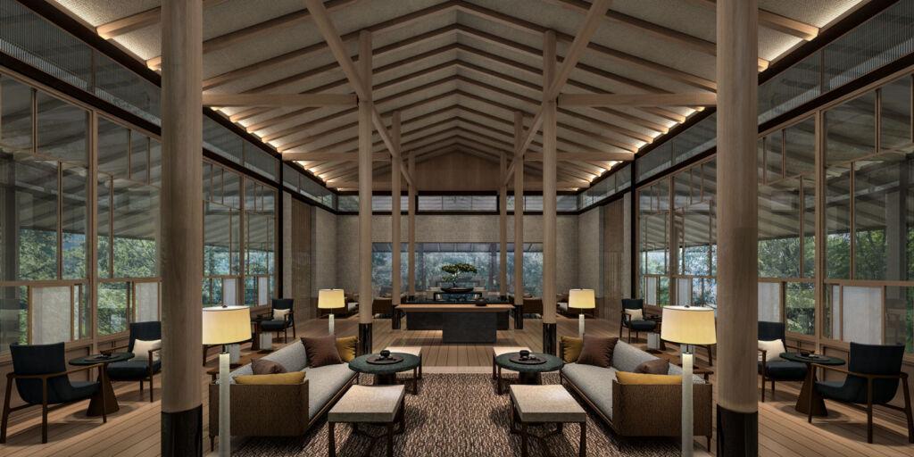 The Tea lounge at ROKU Kyoto