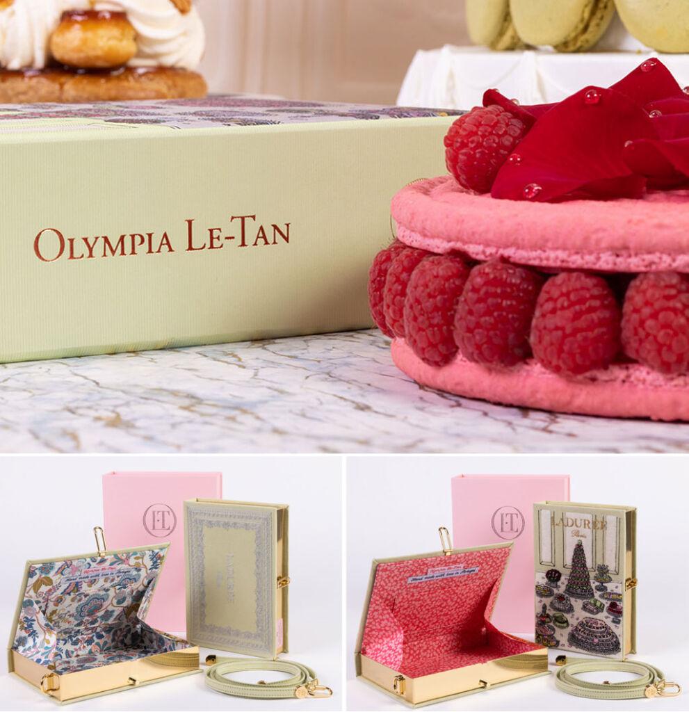 The two Maison Ladurée & Olympia Le-Tan clutch bags