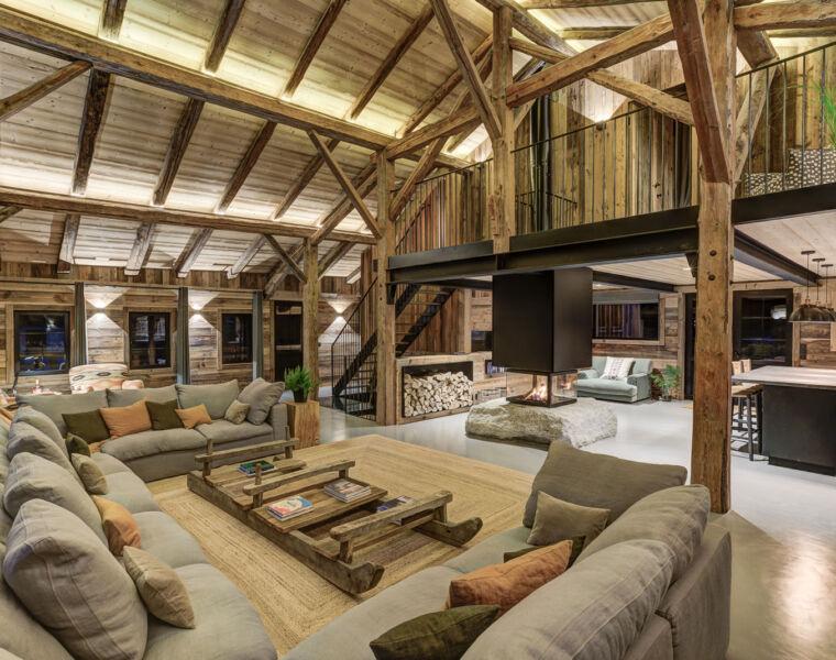 VOZA Developments Ferme Fougere alpine chalet interior