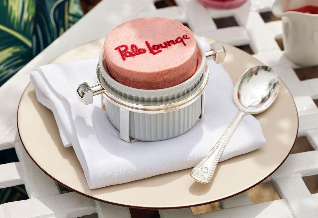 A Dorchester Polo Lounge signature dessert