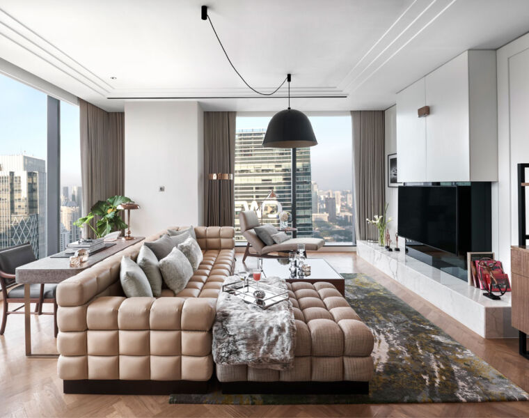 A one bedroom suite at the Langham Jakarta