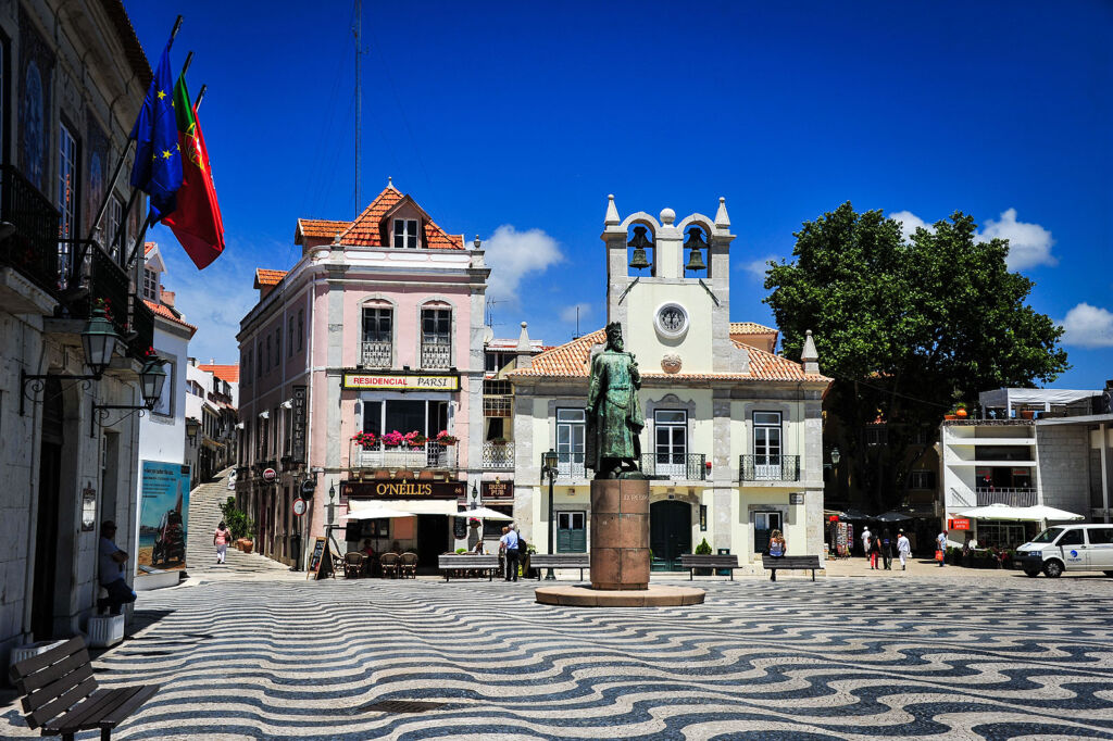 Some of the historical buildings in the town with its striking cobbled streets