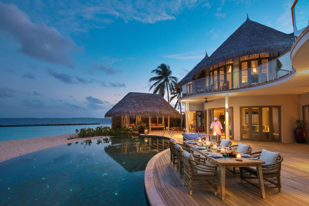 Private dining at one of the villas