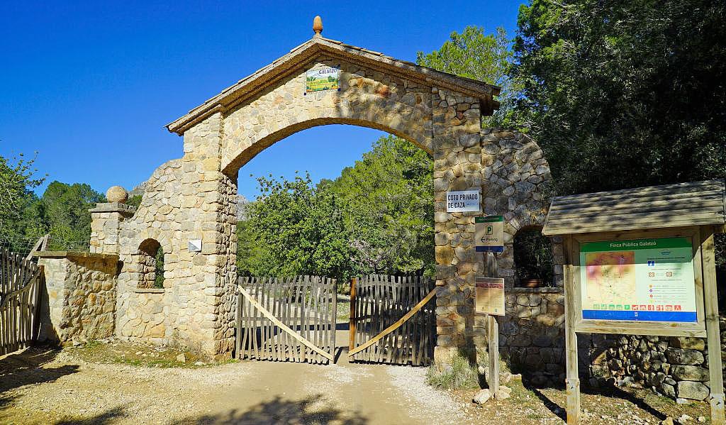 The entrance to Finca Galatzó