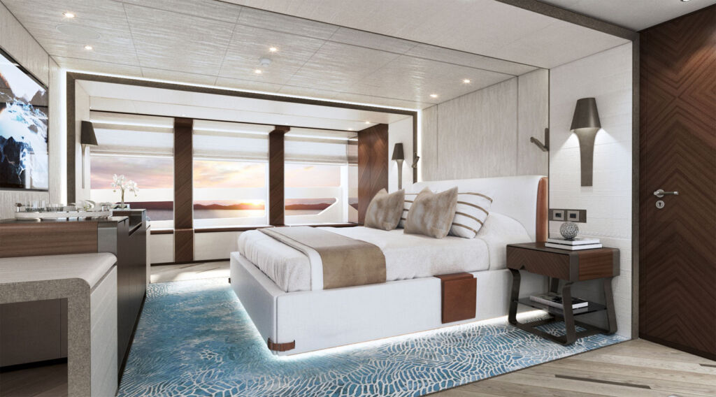 Inside the owner's suite on Project Sapphire