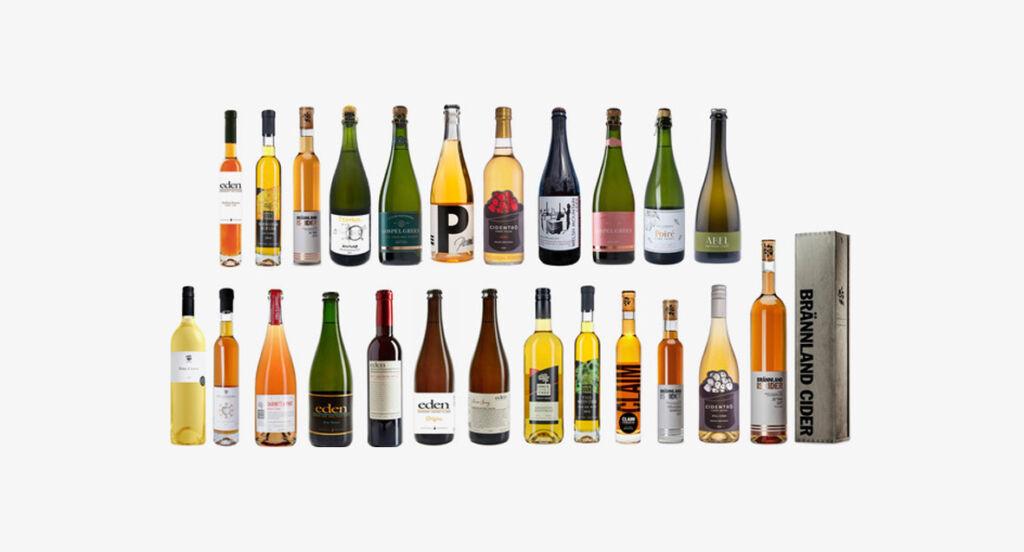 A wide range of high-end cider brands