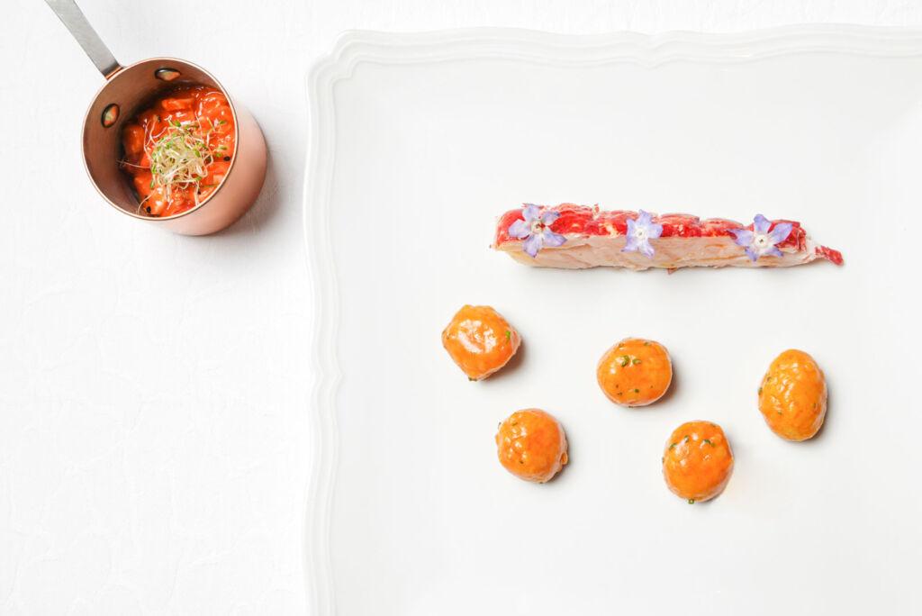 The Hokkaido Pumpkin Gnocchi and Lobster dish