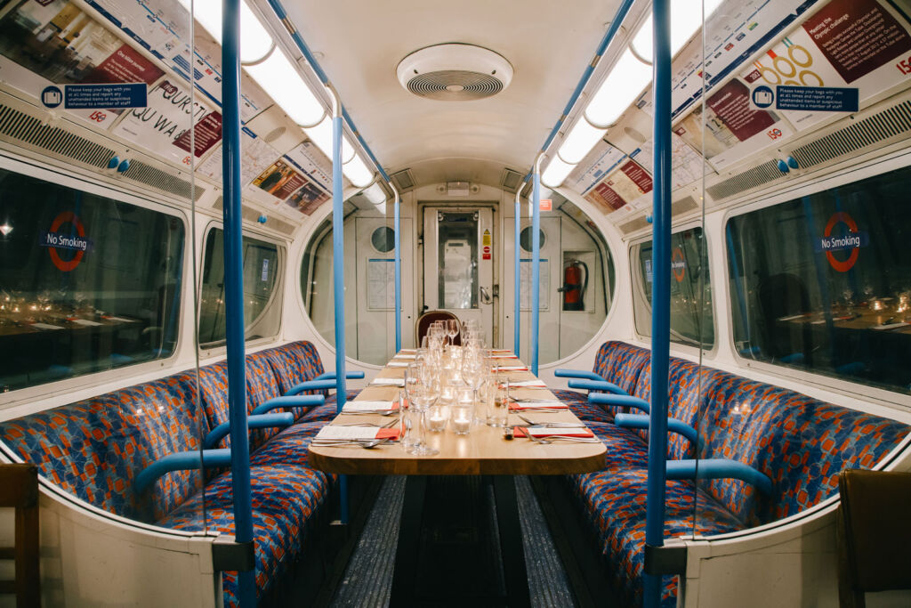 A look inside the carriage prior to guests arriving