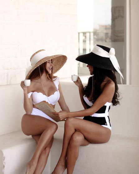 Two of the Mimi Reed Straw hats