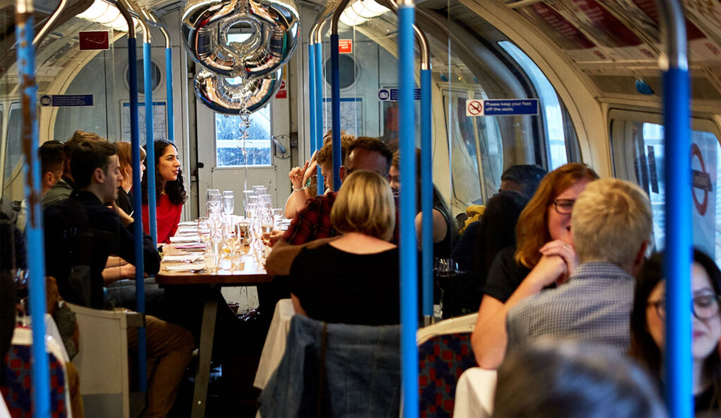 No Need to Mind the Gap When You Dine at London's Supperclub Tube
