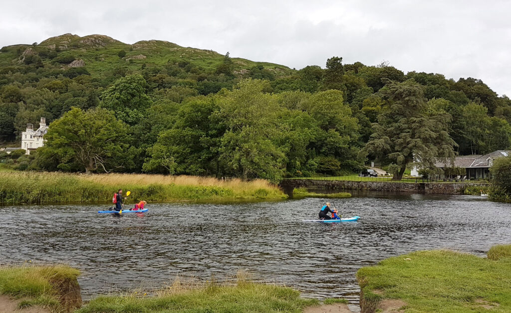 Paddleboarders in Ambleside in the Lake District
