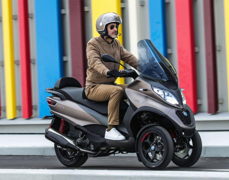 The Piaggio MP3 Sport Advanced 500 Three Wheel Scooter Ticks all the Boxes