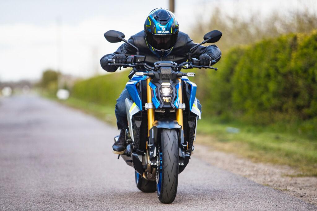 Jeremy Webb riding the new Suzuki GSX-S1000